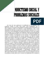 Staats - Conductismo social y problemas sociales