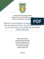 Proyecto de Investigación Transdisciplinaria