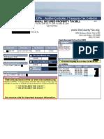 Tax Bill Example