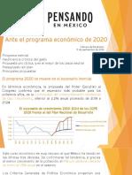 Ante el programa económico de 2020