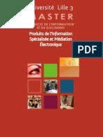 Master PRISME Produits de l'Information Spécialisée et Médiation  Électronique