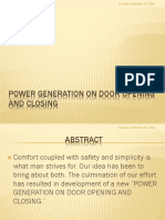 Power Generation on Door Opening and Closing