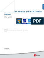 u Blox GNSS Sensor and VCP Device Driver UserGuide (UBX 15022397)