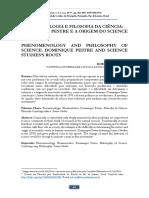 Artigo - 486-5349-1-PB - Robson de Oliveira - FENOMENOLOGIA E FILOSOFIA DA CIÊNCIA. DOMINIQUE PESTRE E A ORIGEM DO SCIENCE STUDIES.pdf