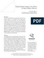 Lucas E. Misseri - El pensamiento utópico y las críticas  de Popper, Molnar y Marcuse