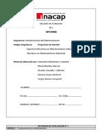 Evaluación N°1 Informe ADMINISTRACION DEL MANTENIMIENTO (SERGIO SILVESTRE ROMERO DROGUETT).docx