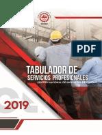 Tabulador de Servicios Profesionales 2019