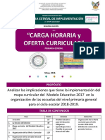 Carga horaria SEP 2018