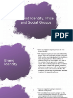 Brand Identity, Price and Social Groups