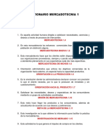 Cuestionario Mercadotecnia 1