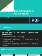 Lesson 1- Sampling Distribution