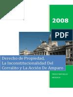Derecho de Propiedad, La Inconstitucionalidad Del Corralito y La Accion de Amparo