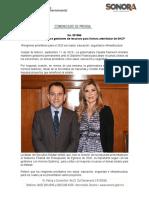 11-09-19 Mantiene Gobernadora gestiones de recursos para Sonora ante titular de SHCP