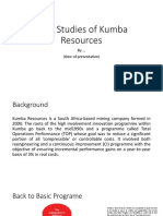 Case Studies of Kumba Resources