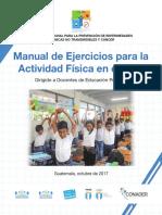 Manual de Ejercicios Para La Actividad Física en El Aula CONADER Reducido