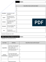 FLL Learn Core Values Worksheet