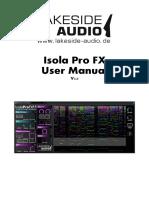 Lakeside Audio - Isola Pro FX User Manual.V2.0
