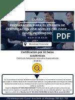 Temario de Certificación Osce
