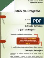 Aula 01 - Introdução e Administração de Projetos