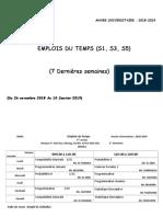 Partie II- Emplois Du Temps 2018-2019(S1-S3-S5)