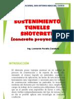 sostenimiento de tuneles - shotcket