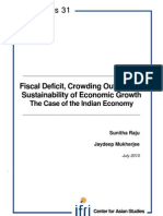 Fiscal deficit, crowding out, and the sustainability of economic growth
