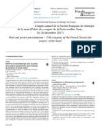 Intérêt de l'Auriculothérapie Pour La Gestion de La Douleur Postopératoire Après Chirurgie Du Syndrome Du Canal Carpien