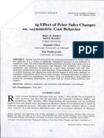 The Moderating Effect of Prior Sales Changes on Asymmetric Cost Behavior