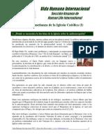 03 - La Enseñanza de La Iglesia Católica (I)