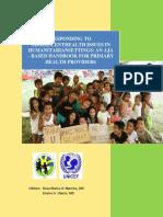 Responding to Adolescent Health Issues in Humanitarian Setting_SAMPI-UNICEF Handbook