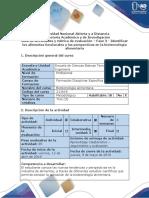 Guia de Actividades y Rubrica de Evaluación - Fase 3 - Identificar Los Alimentos Funcionales y Las Perspectivas en La Biotecnología Alimentaria