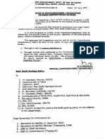 Draft Parking Policy in Delhi