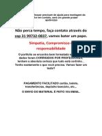 Trabalho Vita Bela (31)997320837