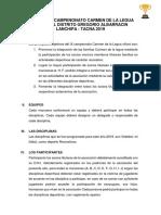 Bases de Ix Campenonato Carmen de La Legua