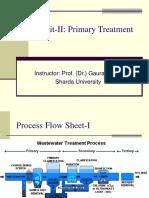 Unit II Primary Treatment
