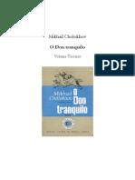 Cholokov, Mikhail. o Don Tranquilo, Vol. III