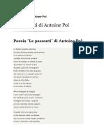"""Le Passanti"" Di Antoine Pol"
