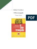 Cholokov, Mikhail. o Don Tranquilo, Vol. IV