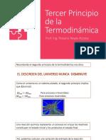 Tercer Principio de La Termodinámica