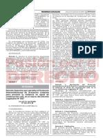 Decreto Supremo 20 2019 in Legis.pe