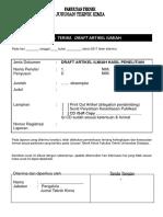 Format Pengumpulan Draft Artikel Dan Setuju Publikasi