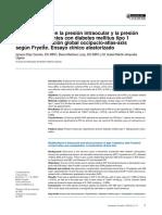 Modificaciones en la presión intraocular y la presión arterial en pacientes con diabetes mellitus tipo 1 tras la manipulación global occipucio-atlas-axis según Fryette. Ensayo clínico aleatorizado