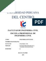 UNIVERSIDAD PERUANA Estudios Preliminares en La Construccion de Puentes