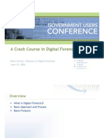 Crash Course in Digital Forensics
