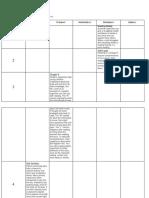 Sample Calendar of Reading Activities