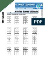 Ficha de Repasamos Las Sumas y Las Restas Para Primero de Primaria