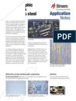 Application Note Stainless Steel