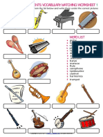 musical instruments vocabulary esl matching exercise worksheet for kids.doc