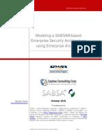 SABSA Using Enterprise Architect