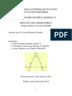 Práctica de Laboratorio 1. Física General II